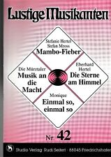 Lustige Musikanten. Piano, Vocal, Chords. Bd.42.
