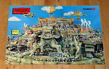 PUFFI BARCELONA PITUFOS manifesto poster Smurfs Schleich Città Medioevo Funghi