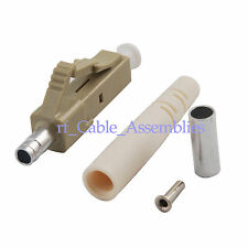 LC Fiber Optic Connectors, Multimode Ivory Housing 3.0 mm,White boot for Eclipse