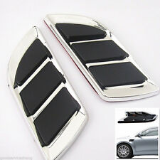 Hood & Door Chrome Decorative Simulation Air Vent Grille Intake For Benz BMW New