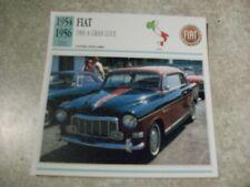 CARTE FICHE FIAT 1900 A GRAN LUCE