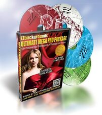 NEW! Mega Pro Package! 4-Discs of Digital Backgrounds, Photoshop Frame Templates
