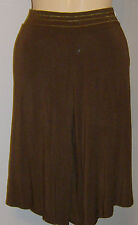 City Unltd. Brown Gaucho Pants Size XS Made in USA Gold Trim NWT  Knee Length