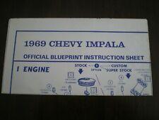 "AMT ""1969 Chevy Impala  ""Original Blueprint model kit Instruction sheet from1969"