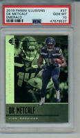 2019 DK METCALF ILLUSIONS EMERALD PSA 10 GEM MINT GRADED ROOKIE CARD SEAHAWKS