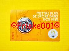 Frankrijk - France - 2 euro 2021 comm in coincard.(Olympische spelen 2024)geel