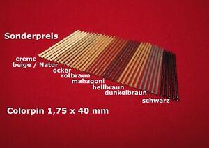 Sonderpreis Paneelstifte Colorpin Leistenstifte Ziernägel 1,75 x 40 mm farbig