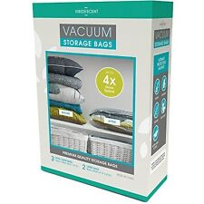 Vacuum Storage Bags: Stronger, Higher Quality Space Savers; 5 pack (Large, XL)