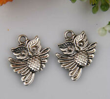 20pcs zinc alloy owl charms 20x16mm 1A671