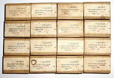 Jeu de 16 quartz neufs en boite individuelle étanche pour BC684 (SCR-608) 100%OK