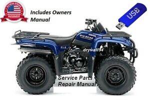 2000-2012 Yamaha BigBear YFM400 4x4 OEM Owners Manual / Service & Repair Manual