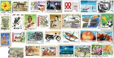MALAYSIA - Selection of Stamps on Paper from Kiloware