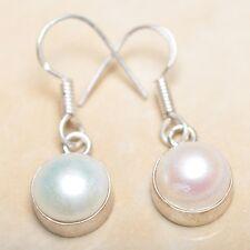 """Elegant Handmade Freshwater Pearl 925 Sterling Silver 1.25"""" Earrings #E00140"""