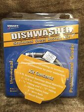 New Smart Choice 5305516519 - 6 ft Stainless!Steel Dishwasher Installation Kit