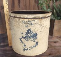 Vintage Olean N.Y. 4 Gallon Crock , Very Rough Condition, Cobalt Blue Signed