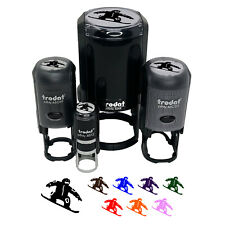 New listing Snowboarder Jumping Extreme Winter Sports Self-Inking Rubber Stamp Ink Stamper