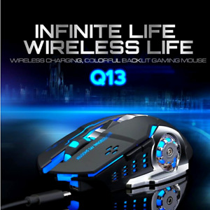 Raton para juegos Mouse USB Inalambrico con Retroiluminación LED 7 colores US