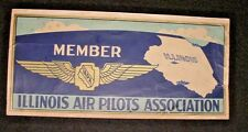 Illinois Air Pilots Association-Vintage Decal Transfer-Great Graphics-IAPA