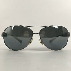 Preowned Ray Ban Polarized Polished Black Aviator Sunglasses RB3386 67mm BG01