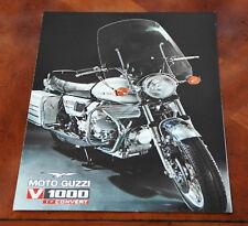 Moto Guzzi V1000 Convert brochure Prospekt, 1976 (Italian text)