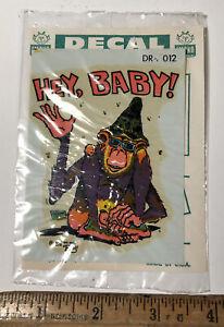 Vintage Ed Big Daddy Roth Hey Baby DR-012 Water Slide Decal Hot Rat Rod Rat Fink