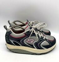 Skechers Shape Ups Womens Comfort Toning Shoes Black Pink Size 8