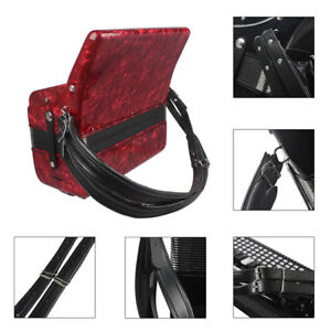 New Adjustable Accordion Comfortalble Shoulder Straps PU Leather For Unisex J