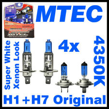 Glühbirnen/Halogen Birnen Lampen ORIGINAL MTEC H7+H1 SuperWhite Xenon Look bulbs
