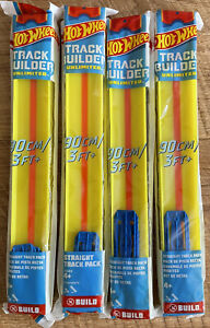 Hot Wheels Track Builder - Yellow - Pack of 4 (Approx 16ft of Track!)