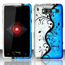 Design Rubberized Hard Case for Motorola Droid RAZR Maxx HD XT926M - Blue Vine