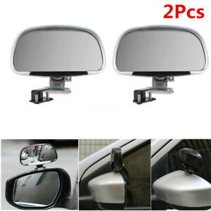 2Pcs Car Blind Spot Side Rear View Mirrors ABS Clip-on Adjustable Kit Universal
