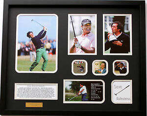 New Seve Ballesteros Limited Edition Memorabilia Framed