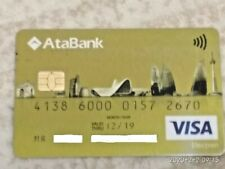 AZERBAIJAN BAKU ATA BANK VISA DEBIT SPECIAL EDITION CARD VARY RARE COLLECTIBLE
