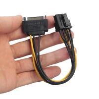 Câble d'Alimentation SATA 15pin vers PCI-E (6+2) 8 pin Adaptateur Convertisseur
