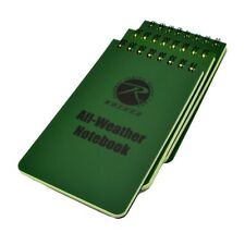 Rothco 3x5 Waterproof All Weather Notebook Memo Pad Spiral Bound 3 Pack Lot