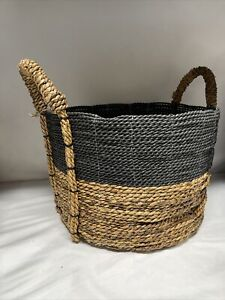 "THRESHOLD Striped Basket | 10"" x 12"" x 14"" 
