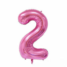 """40"""" Giant Pink Two Year Old Baby First Birthday 2 Month Number Float Balloon USA"""