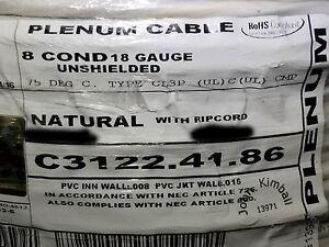Carol C3122 18/8C Stranded Plenum Media/Security/Control Cable CMP White /100ft