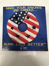 Candle Capper Ceramic America Flag Topper for Jar Candle Open Box USA Patriot