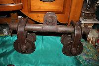 Antique Barn Industrial Door Roller-Cast Iron-Primitive Country Decor Steampunk