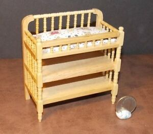 Dollhouse Miniature Baby Changing Table 1:12 one inch scale J31 Dollys Gallery