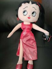 """New ListingKellytoy Betty Boop 15"""" Plush Toy Doll Red Shiny Dress Boop-Oop-A-Doop 2016"""