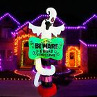 9ft Inflatable Halloween Sign with Scary Ghost LED Blow Up Lighted Decorations