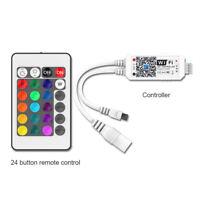 DC 9-24V Mini Wifi LED Controller+ IR Remote -5050/3528 RGB RGBW LED Strip Light