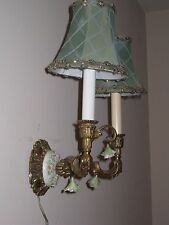 VINTAGE Italian/ French Gilt & Capodimonte Rose Antique Wall Sconce SHABBY CHIC