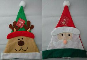 2 Cute Kids Character Novelty Felt Christmas Hats