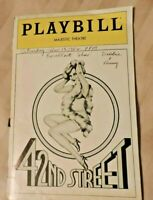 """42ND STREET"" Playbill November1982~Majestic Theatre Broadway, NYC Jerry Orbach"