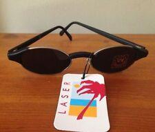 Sunglasses 😎 vintage 1980s Laser silver frames oval frames tinted UV lenses new