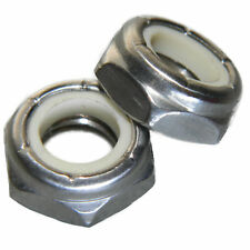 10-32 Jam Hex Nuts, Stainless Steel 18-8, Nylon Locking, Qty 50