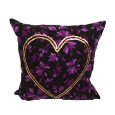 Love/Heart & Gold Sequins Purple Flannel Pillowcase/Cushion Cover Halloween Gift